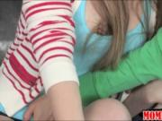 Stepmom Brandi Love 3way with teen Madison Chandler and