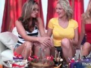 Hot blonde milfs go crazy rubbing their legs by TheSexy