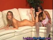 Hot Lesbians Bare Foot, Licking and fun with Dildo 6 by