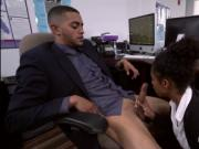Sexy beautiful secretary black Ivy Young fucked in offi