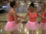 Three ballerinas intimate lesbian action