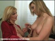 Mrs. Darryl teaches a tight teen how to suck and fuck