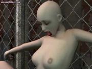 Animated vampire getting rammed