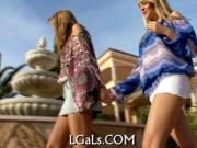 Lesbo fun of teen babes