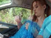 Pigtailed redhead cheerleader Eva Berger drilled by str
