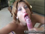 POV porn with sucking hard dick by ExposedMum