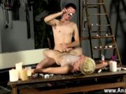 Gay jocks Splashed With Wax And Cum