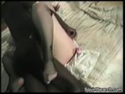 Woman With Two Black Guys Creampied