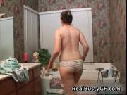 Chubby schoolgirl solo fun in bathtub video 1 by RealBu