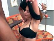 horny brown haired bitch with big natural boobs loves b
