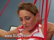 BDSM hardcore action with ropes and elegant sex