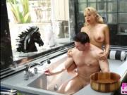 Huge tits deepthroater Luna Star Calls for plumbing and