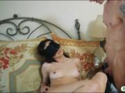 Stepsis pounded by her 2 nasty stepbros in the bedroom