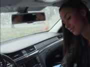 Hot teen Victoria Sweet boned in the car