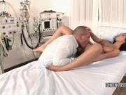 Black Angelika fucks in the hospital bed