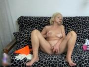 Horny mature whore goes crazy masturbating her horny we