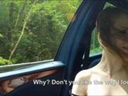 Cutie Beatrix Glower hitchhikes and gets drilled in the