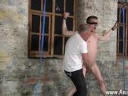 Gay jocks With his mushy nut sack tugged and his manmea