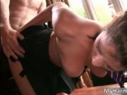 Nasty brunette hoe Coco Charmelle gets fucked hard up h