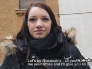 Busty amateur from street fucks for cash