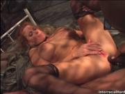 Adorable big boobed babe with big melons gets her poope