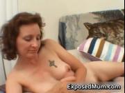 Horny mom next door stroking a stiff rod by ExposedMum