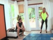 Hot blonde milf gets horny showing off her great ass by