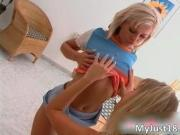 Two amazing honey blond babes Vera V and Nicky fucking