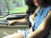 Sexy amateur teen ebony Diamond Monroe pounded in publi