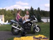 Young girl/girl biker girls