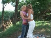 Two horny babes are stroking their naked bodies finally