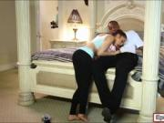 Gorgeous yoga babe Onyx Muse pounded by big black cock