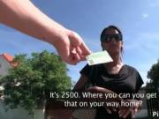 Amazing pickup latino undressing public for cash by Pic