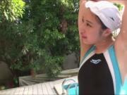 Japanese babe Jun Horikita gets fuck in the pool