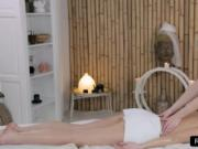 Lesbian masseuse tribbing with customer