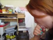 Ginger college gal cocksucking