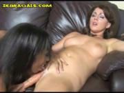 Double Dildoing for B and W Girls