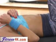 Slim Beauty Ivana Sugar Allows Fitness Trainer To Take
