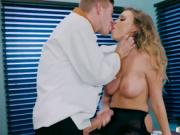 Natural busty office girl Alexis Adams fucked for promo