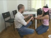Amateur teen girlfriend tied up and banged by her BFs b