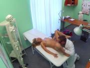 Babe jumping on doctors cock
