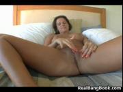 Filthy slut masturbating before she sucks cock by RealB