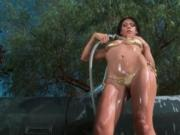 Super hot brunette babe goes crazy getting her ass lick