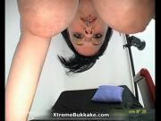 Horny sexy whores from ExtremeBukkake go crazy sucking