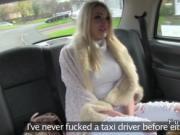 Beautiful British amateur bangs in cab