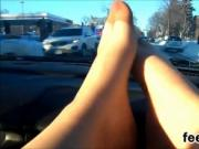 Feet Close Up During A Ride