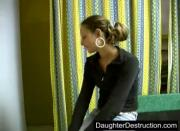 Wild amateur sextape young daughter
