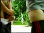 Being fucked up the ass in a park is what fat gay guys