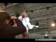 Amazing brown haired skank doing skanky dance 1 by City