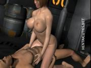 Hot chesty 3D hentai slut fuck dick